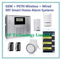 CP-21A PSTN GSM Alarm Dual Network Alarm System, Wireless Intruder Burgular Alarm System, Home DIY Alarm system
