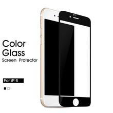 color tempered glass screen protector for iphone 6