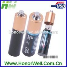 AAA Shape Metal Battery Usb Flash Drive Drive Disk Pen