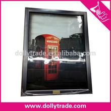 London telephone booth wood photo frame