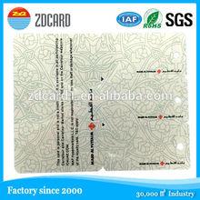 Fashionable Custom Size Plastic Hole Die Cut Card PVC Card