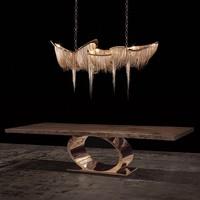 2015 fashion model silver metal chain chandelier Pantheon suspension light