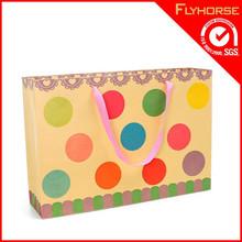 Supply Fancy Popcorn Kraft Paper Shopping Bag