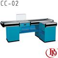 Impressora caixa de supermercado check-out contador de mesa de vidro