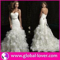 2015 wholesale high quality wedding dresses removable skirt