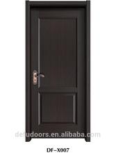 2 panel natural veneer mould glass painting door/toilet door/bathroom door