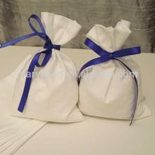 blank cotton bag for wedding favors