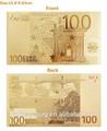 oro 24k foglio di materiale arte da collezione dollaro fattura banconota europa