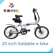 Alibaba China supplier direct selling new model 20 inch folding e- bike with hidden Li-ion battery and many color