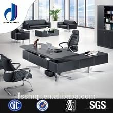 F-01 Modern glass desktop executive L shaped office desk