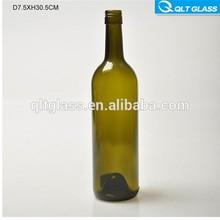 sıcak satış ucuz 750ml renkli bordo tarzı şarap şişeleri