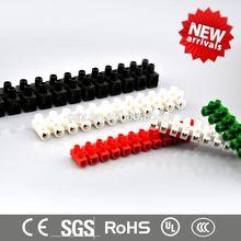 CSV hot selling free samples white black 12 pole H/U/V type 100 amp terminal block (3A to 150A)