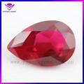 6*8mm pêra corteindustrial pedra de rubi sintético preços por quilates ruby gemstone