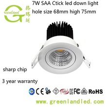 Factory price epistar chip high quality saa ctick ce rohs led downlight saa