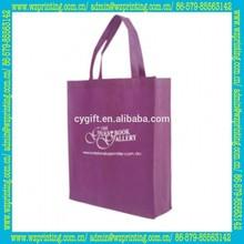 china promotion purple eco friendly bag reusable shop bag