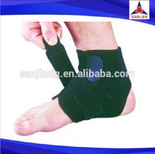 Sport Basketball Ankle Foot Elastic Brace Support Wrap Neoprene Adjustable Ankle Support Black