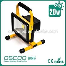 Portable LED Flood Light, Rechargeable, Li-ion Battery Power 20W FLOOD LIGHT