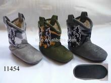 Children Toddlers Girls Boys Tall Winter Warm Micro Fiber Camo Flat Western Cowboy Indoor Slipper Boots