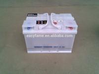 DIN72 12v 72AH dry charged lead acid car battery