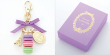 Lovely macaron car keychain with eiffel tower model
