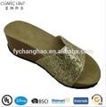 ( csl- 745) zapatos de tacón alto bajo precio las mujeres usan materiales para hacer de sandalias