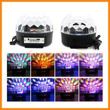 18W LED Stage Lighting RGB Crystal Magic Ball Effect DMX Control Disco DJ Party Stage Light