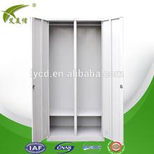 Bedroom furniture steel wardrobes with double door mirror