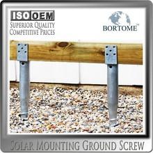 Wooden Fencing Post U Type Galvanized Steel Ground Screw Anchor