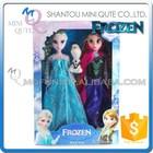 Mini Qute wholesale 3 in 1 movable joints Plastic cartoon Frozen doll frozen princess anna & elsa olaf girls children toys