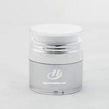 Wholesale popular dual chamber airless cream acrylic cosmetic bottle 50g bottles and packaging