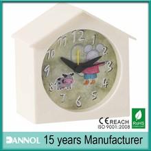 house shape decorative kids alarm clock theme 1 dollar gifts
