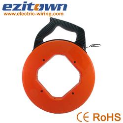 Orange plastic case easy to use steel ideal fish tape