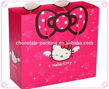 Nice cat pattern shopping paper bag Christmas gift bag birthday gift bag