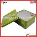 0.23 mm de hojalata de fácil apertura cuadrada comida latas de encargo