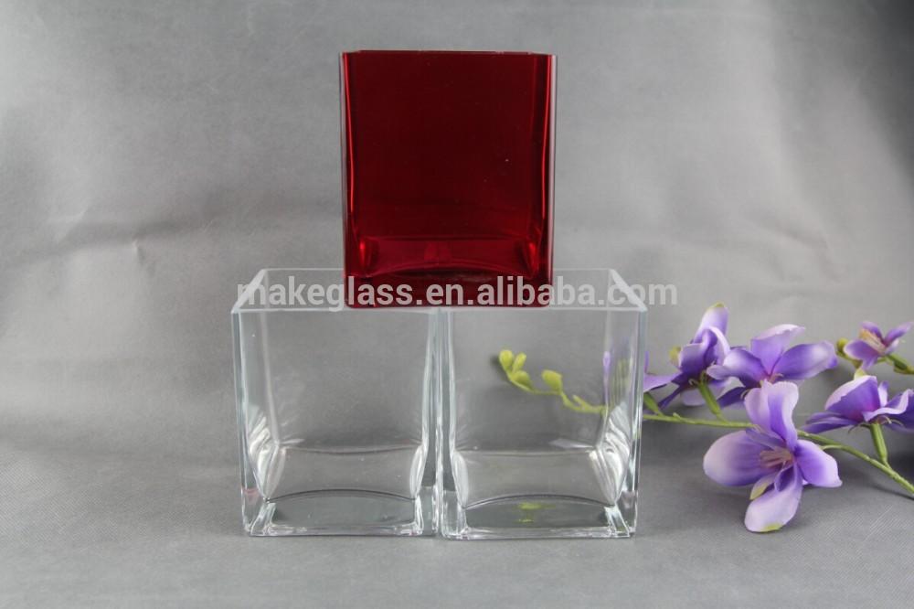 Glass Flower Vase Transparent Glass Vase Square Glass Flower Vase View Transparent Glass