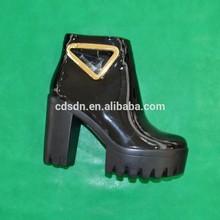 girls high heel sheepskin boot