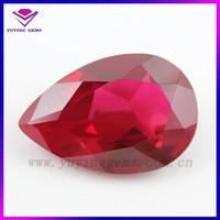 Wholesale 6*4mm Oval Shape Precious Gemstone Corundum Filled Ruby Price