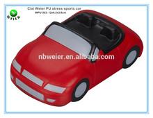 12x6.5x3cm bulk polyurethane PU sports car shaped/custom printed PU stress ball sports car/stress toy PU toy sports car shape