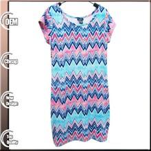 Fashion Summer Women 92%polyester 8%spandex Casual Dress