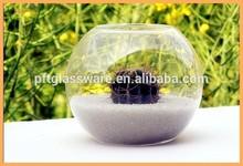2015 Wholesale glass aquriums Custom fish tank round design glass aquarium