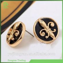 High-grade anti allergy women's stud earrings, alloy earrngs wholesale