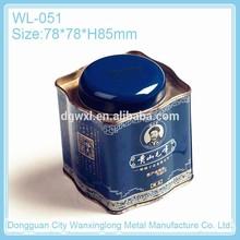 Irregular shape tin box for tea storage
