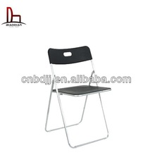 2014 newest China wholesale ikea style modern simple cheap metal folding chair