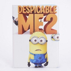 despicable me minion leather case for ipad mini 1 / 2 / 3