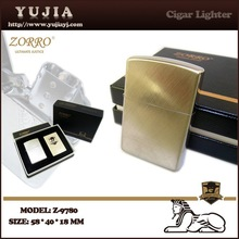 Windproof Oil cigarette lighter cheap lighter with gift box