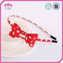 Hot sale dot hair bow headband for appointment