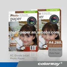 260 g 4R sim brilhante de alta qualidade como a mitsubishi papel fotográfico