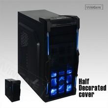 New Black ATX Mid Tower Gaming Computer Blue-LED Case w/ Enlight Intel i7 PC PSU