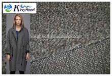 Wool blend brushed herringbone fabric for coat/jacket