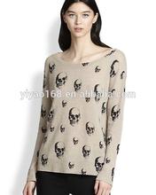 trendy dexter cashmere skull-print sweater